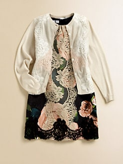 Dolce & Gabbana - Girl's Lace Silk & Cashmere Cardigan