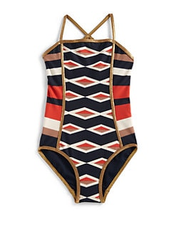 Little Marc Jacobs - Girl's Hailey Striped Maillot