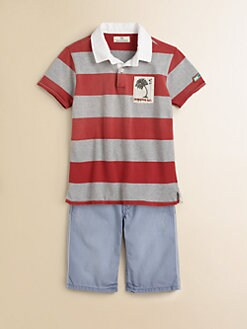 Scotch Shrunk - Boy's Surf-Motif Rugby Shirt