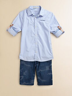 Scotch Shrunk - Boy's Roll-Sleeve Shirt