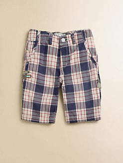 Scotch Shrunk - Boy's Plaid Twill Shorts