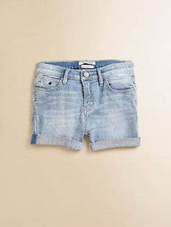 Scotch Shrunk - Girl's Faded Denim Shorts