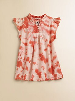 Scotch Shrunk - Girl's Tie-Die Ruffled Top