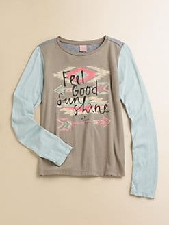 Scotch Shrunk - Girl's Long-Sleeved Colorblocked Tee