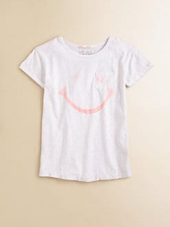 Scotch Shrunk - Girl's Smiley Face Speckled Tee