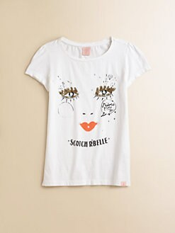 Scotch Shrunk - Girl's Embellished Glamour Tee
