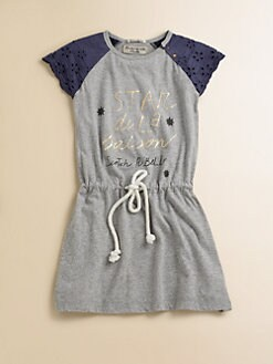 Scotch Shrunk - Girl's Eyelet-Sleeve Knit Dress