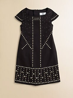 Versace - Girl's Embellished Knit Dress