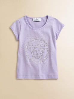 Versace - Girl's Studded Logo Tee