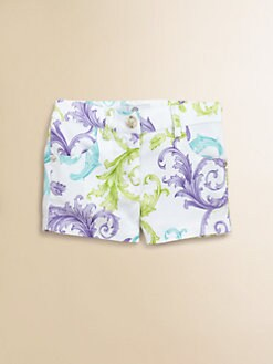 Versace - Girl's Print Twill Shorts