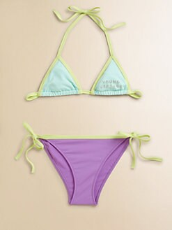 Versace - Girl's Colorblock String Bikini