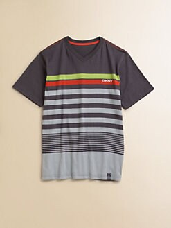DKNY - Boy's Striped V-Neck Tee