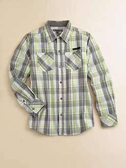 DKNY - Boy's Woven Railroad Shirt