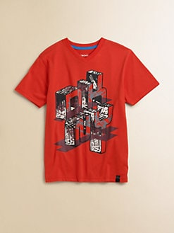 DKNY - Boy's Mural V-Neck Tee