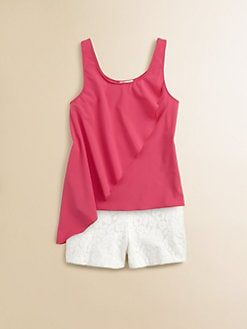 Sally Miller - Girl's Side Ruffle Tank Top