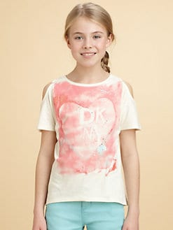 DKNY - Girl's Logo Heart Tee