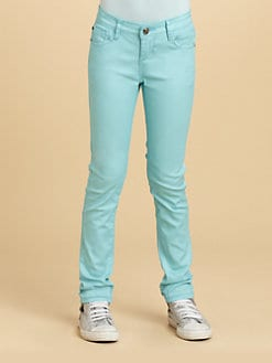 DKNY - Girl's Pearlized Denim Jeans