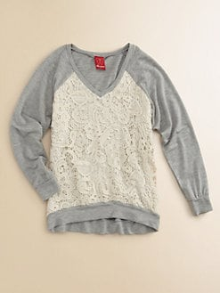 Ella Girl - Girl's Josephina Lace Sweatshirt