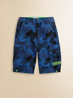 Diesel - Boy's Camo Cargo Shorts