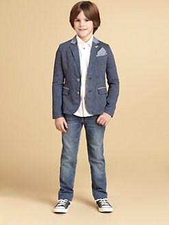 Armani Junior - Boy's Pinstriped Blazer