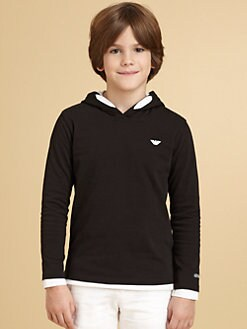 Armani Junior - Boy's Logo Hoodie