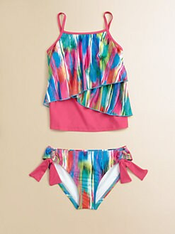 Ella Girl - Girl's Two-Piece Kaleido Tankini Set