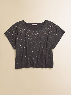 Design History - Girl's Embellished Crop Top
