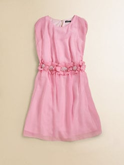David Charles - Girl's Floral Chiffon Dress