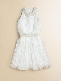 David Charles - Girl's Chiffon Pearl Dress