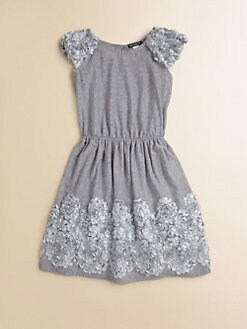 David Charles - Girl's Embellished Jersey Dress