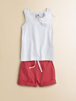 Petit Bateau - Girl's Bow Tank Top