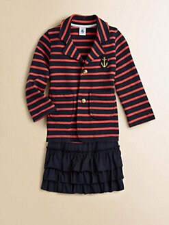 Petit Bateau - Girl's Striped Blazer