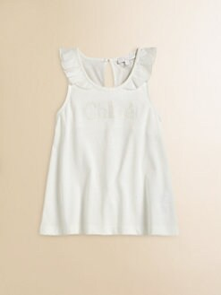 Chloe - Girl's Embroidered Logo Tank