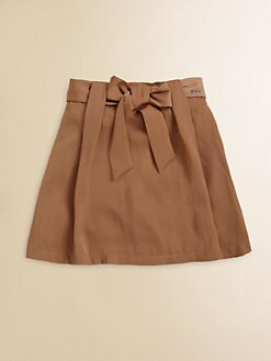 Chloe - Girl's Satin Bow Skirt
