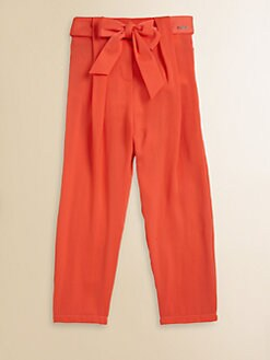 Chloe - Girl's Satin Bow Pants