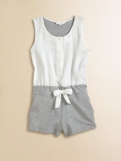 Chloe - Girl's Satin & Fleece Romper