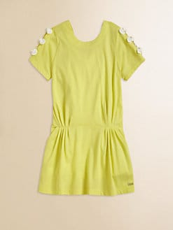 Chloe - Girl's Jersey Bow Dress