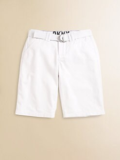 DKNY - Boy's Belted Chino Shorts