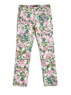 7 For All Mankind - Girl's Kauai Floral Skinny Jeans