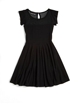 Un Deux Trois - Girl's Mesh Skater Dress