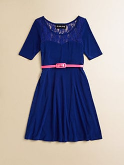 Un Deux Trois - Girl's Lace Yoke Dress