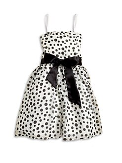Un Deux Trois - Girl's Polka Dot Chiffon Party Dress
