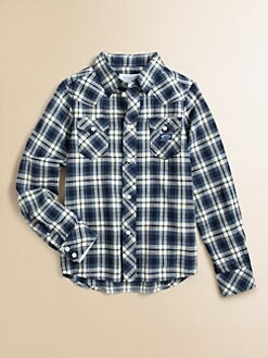 Diesel - Boy's Plaid Shirt