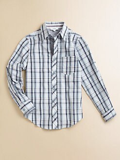 Hugo Boss - Boy's Plaid Poplin Shirt
