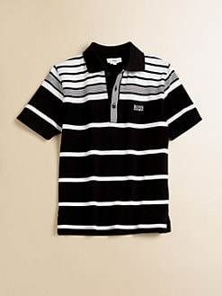 Hugo Boss - Boy's Striped Pique Polo