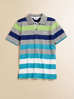 Hugo Boss - Boy's Wide Striped Jersey Polo