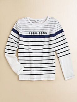 Hugo Boss - Boy's Striped Logo Tee