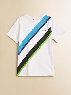 Hugo Boss - Boy's Diagonal Striped Tee