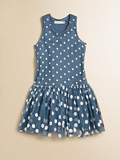 Stella McCartney Kids - Girl's Bell Dotted Tulle Dress