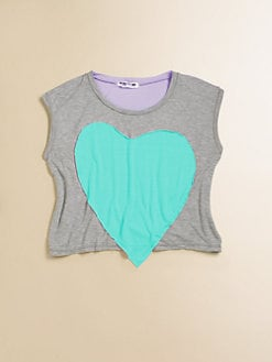 Flowers by Zoe - Girl's Heart Patch Jersey Top